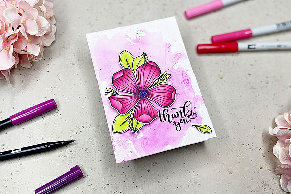 Make cards using stamps