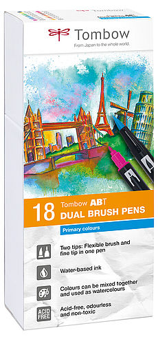 Tombow ABT Dual Brush Pen 18er Set