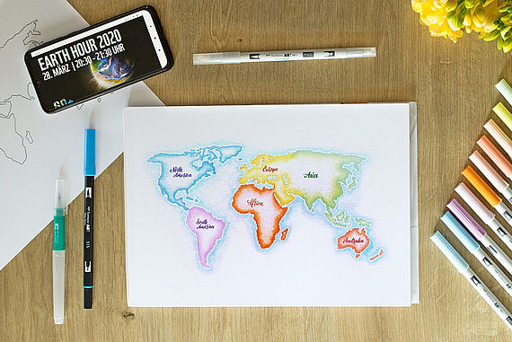 Draw a Map of the World