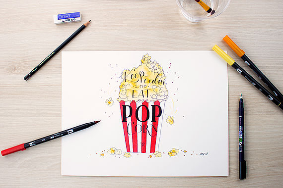 Lettering? Watercolor? We love both and simply combine them.