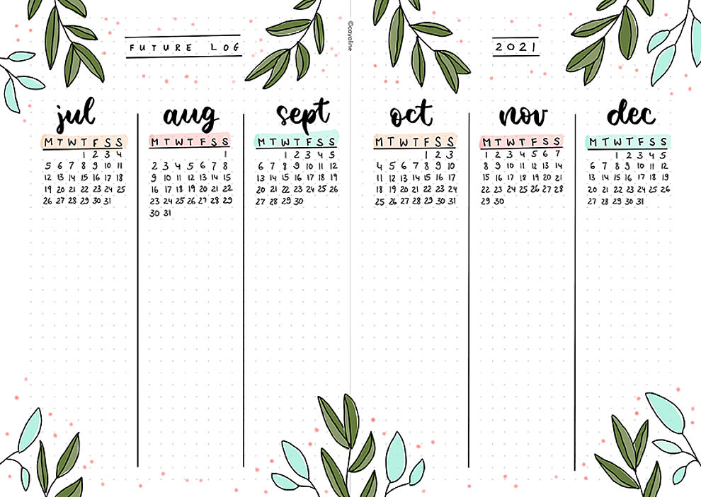 Circus Theme Bullet Journal Ideas Monthly