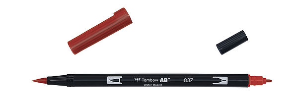 ABT Dual Brush Pen 837 wine red