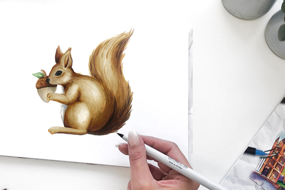 Learn to draw squirrels with ABT PRO