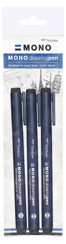 MONO drawing pen Set de 3