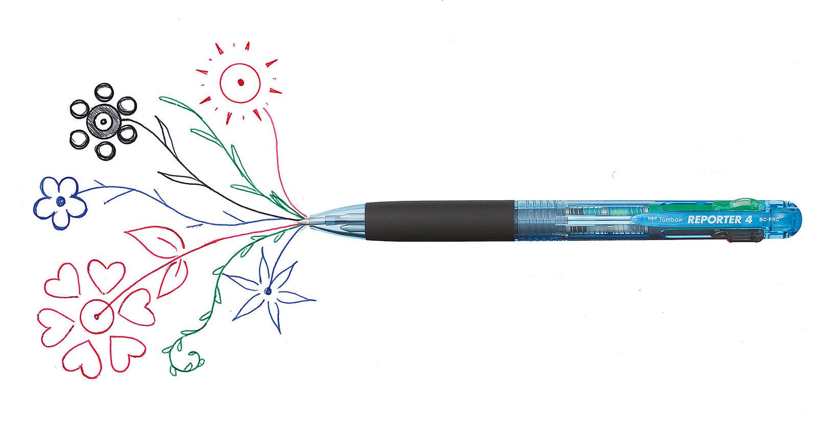 Kugeldurchmesser 0,7 mm Mine Mehrfarbkugelschreiber To... für Reporter 4 rot