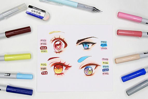 Draw manga eyes