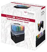 Tombow ABT Dual Brush Pen coffret avec 107 couleurs + blender