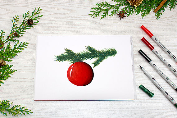 Learn to draw a Christmas tree ornament with ABT PRO