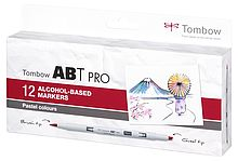 Tombow ABT PRO set of 12 Pastel Colors