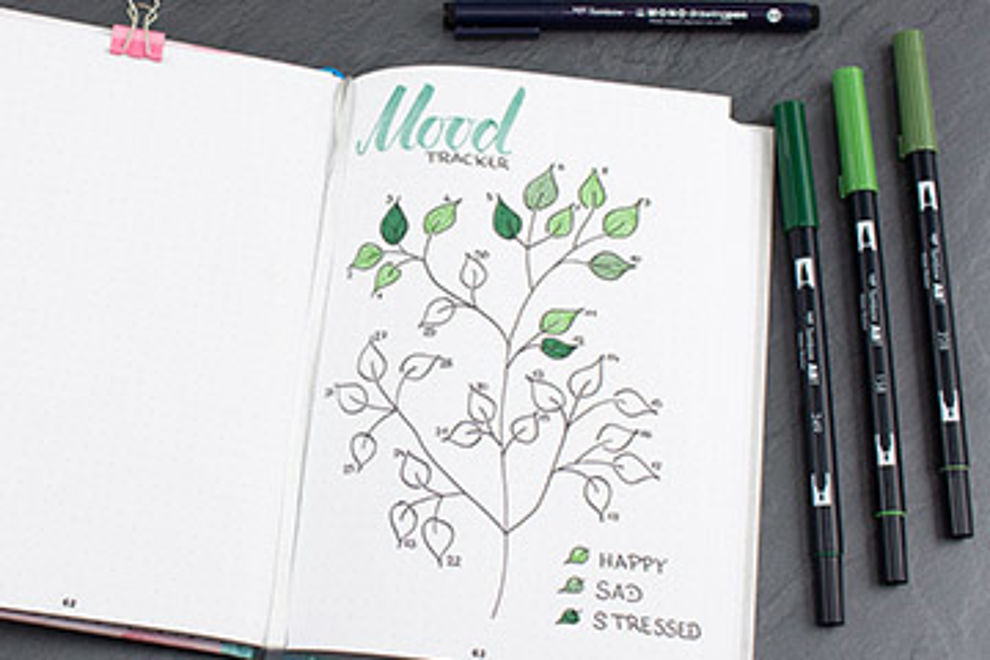 Mood tracker for your Bullet Journal