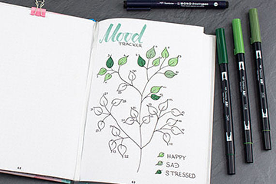 Mood Tracker voor jouw Bullet Journal