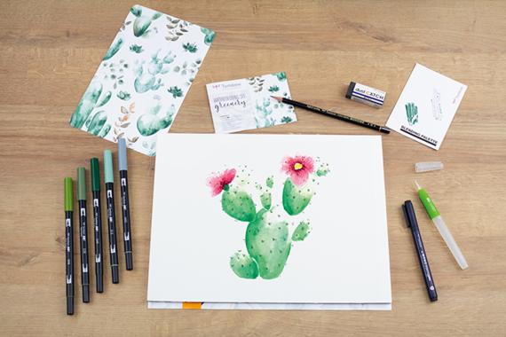 Le Watercoloring avec les Brush Pens