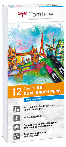Tombow ABT Dual Brush Pen 12er Set